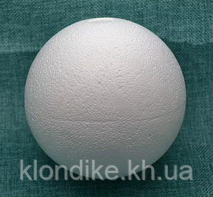 "Заготовка пенопластовая ""Шар"" 3 см, Цвет: Белый"