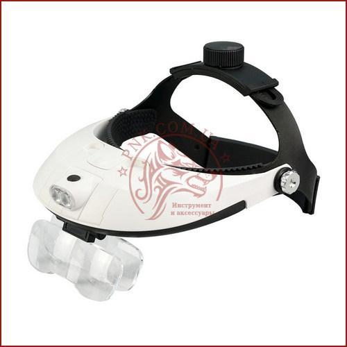 Бинокулярная лупа MG81001-H, увеличительные очки для пайки с подсветкой, удобная фиксация на голове