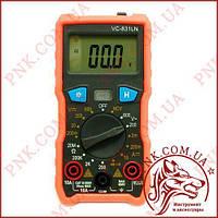 Мультиметр цифровой VC 831LN, подсветка, защитнй корпус, звуковая прозвонка
