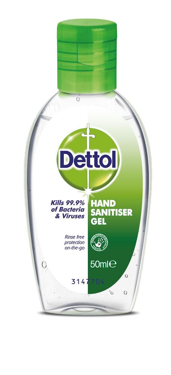 Средство антисептик для дезинфекции рук Dettol Original 50мл
