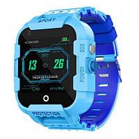 Детские умные GPS часы DF39z 4G с видеозвонками и влагозащитой IP67 Blue (SBWDF39ZB)