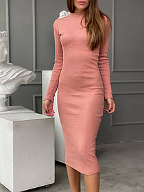 Облегающее платье с имитацией косточек 13-332