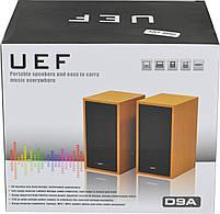 Компьютерные колонки акустика UEF D9a (коричневое дерево) (3950), фото 4