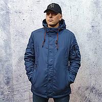Удлиненная демисезонная куртка, парка BLACK VINYL TC18-1285