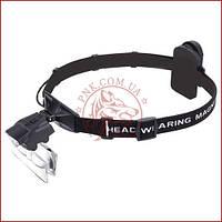 Бинокулярная лупа очки 9892C, Led подсветка, сменные линзы, удобное крепление