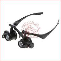 Збільшувальні окуляри годинникаря і ювеліра, збільшувальні окуляри 9892GJ (10X 15X 20X 25X)
