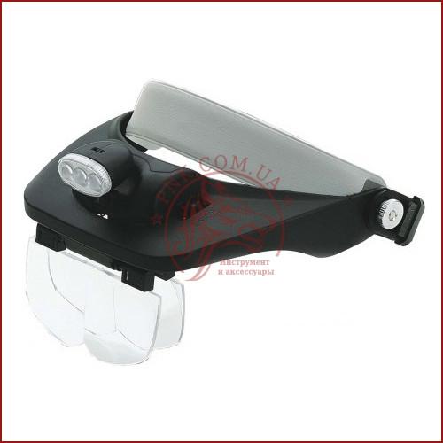 Увеличительные очки лупа с подсветкой, бинокулярная лупа MG 81001-E