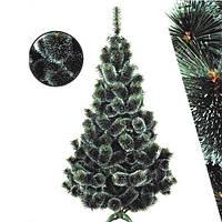 Сосна искусственная заснеженная пышная 2.2 метра. Искусственная сосна новогодняя с белыми кончиками