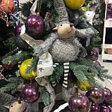 Декоративный новогодний олень, 24*14*61 см, серый, фото 2