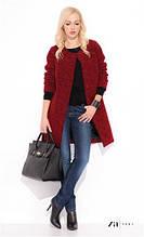 Кардиган женский шерстяной теплый ZAPS, кофта, свитер, пальто