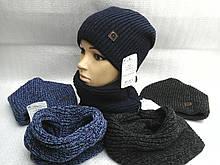 Шапочка вязанная с шарфиком баф