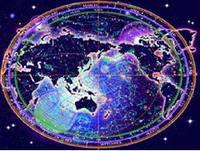 """3Д светящиеся обои """"Карта"""" 135/180 см."""