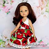 "Сукня ""Маки"" для ляльок Паола Рейну, фото 2"