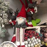 Декоративный новогодний гном, 19*12*73 см, красный, фото 3