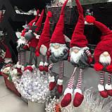 Декоративный новогодний гном, 19*12*73 см, красный, фото 2