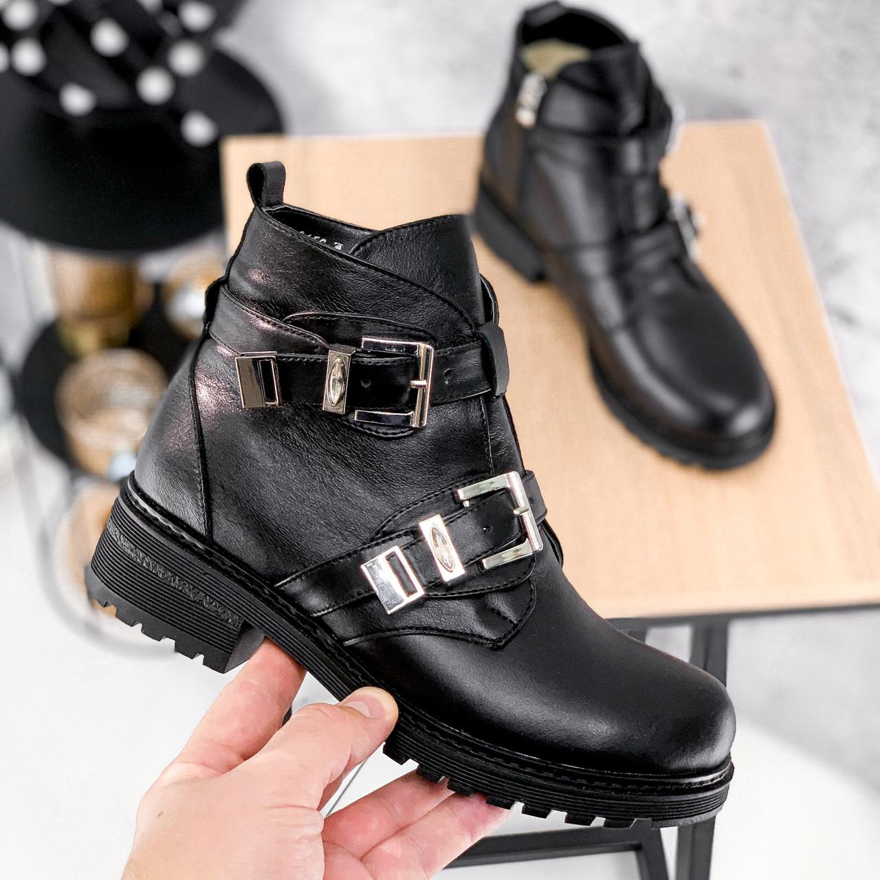 Ботинки женские Dorian черные ЗИМА 2414