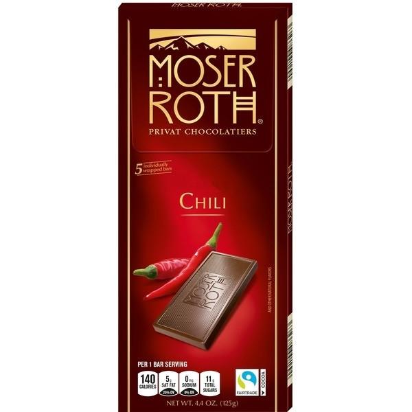 Шоколад черный MOSER ROTH Chili с перцем чили 125 г Германия