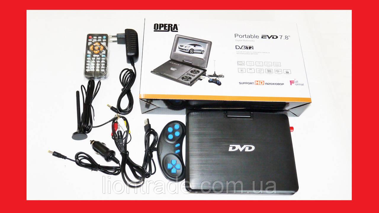 """7,8"""" DVD Opera 758 Портативный DVD-проигрыватель с Т2 TV USB SD"""
