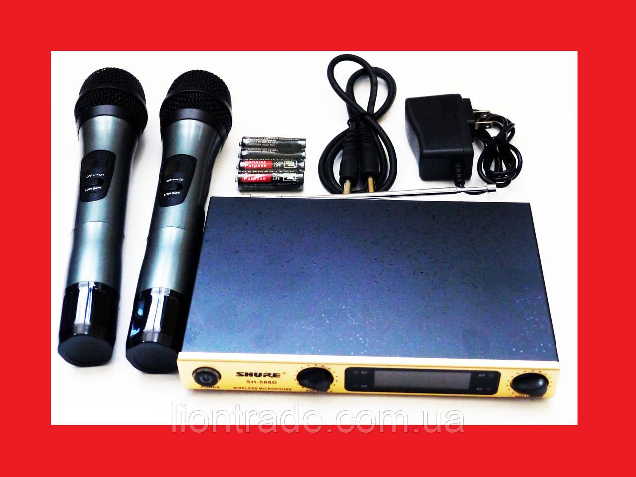 Радіосистема SHURE SH-588D база 2 радіомікрофона