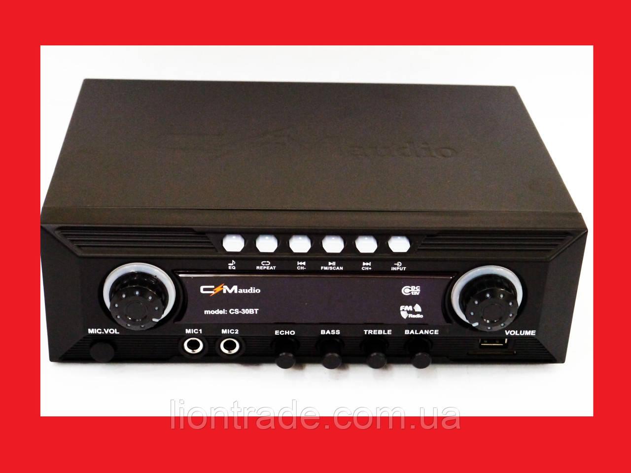 Підсилювач CMaudio CS30BT - Bluetooth, USB,SD,FM,MP3! Караоке 2х канальний 200W