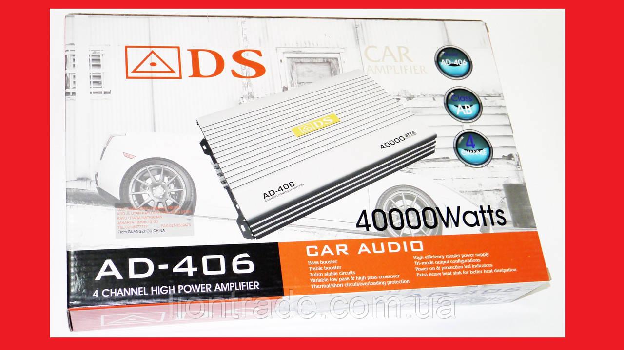 ADS AD-406 Автомобильный усилитель звука 4000Вт 4-х канальный