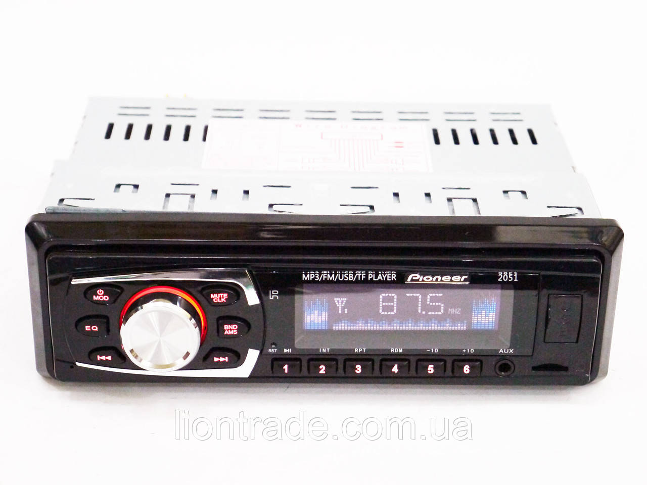 Автомагнитола Pioneer 2051 Usb+Sd+Fm+Aux+ пульт (4x50W)