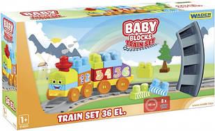 """""""Baby Blocks"""" Мої перші кубики - залізниця 1,45 м - 36ел."""