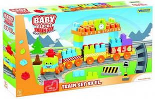 """""""Baby Blocks"""" Мої перші кубики - залізниця 2,24 м - 58ел."""