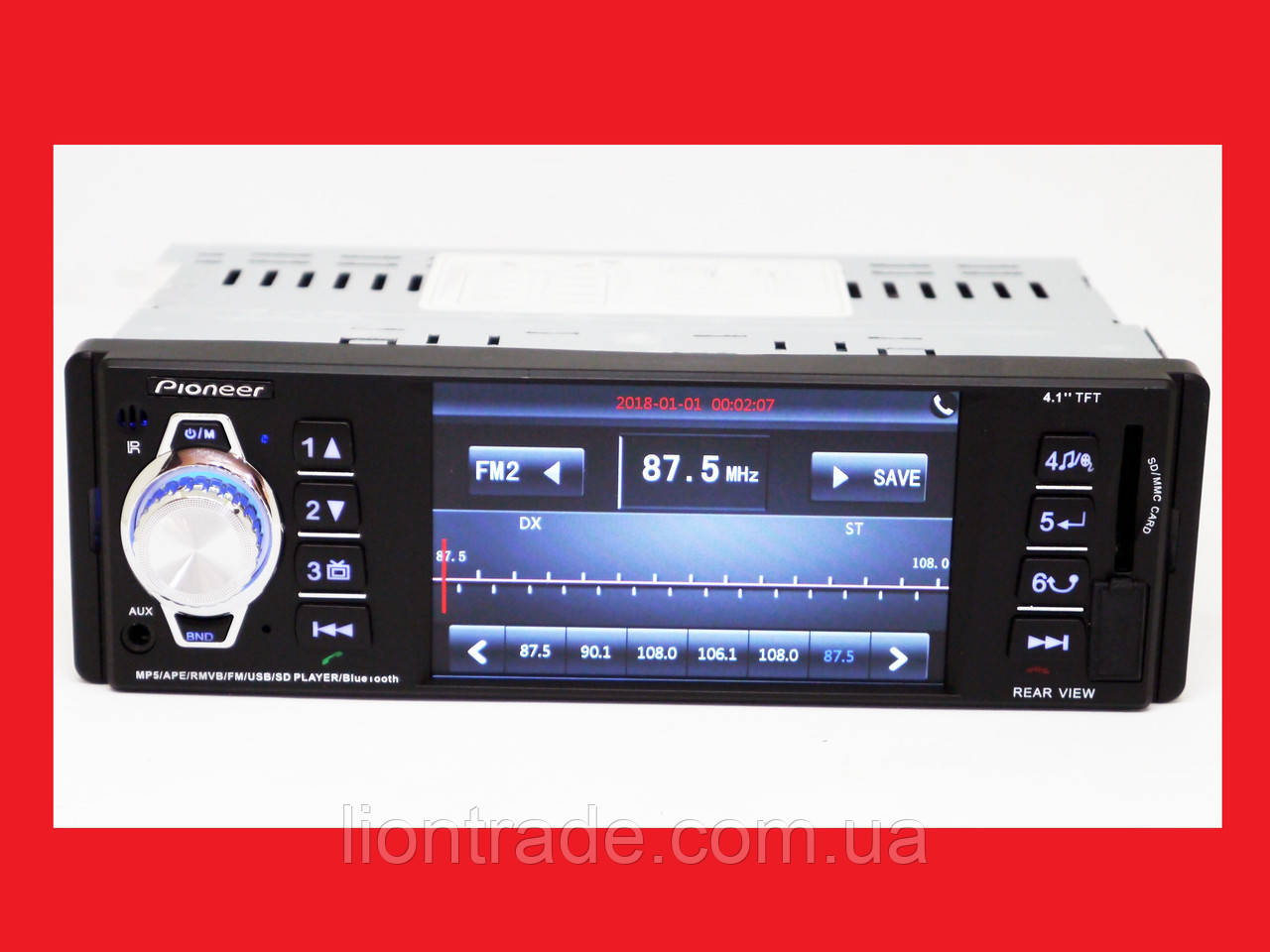 Pioneer 4204 ISO - экран 4,1''+ DIVX + MP3 + USB + SD - RGB подсветка