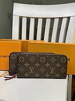 Женский кожаный кошелек на молнии Louis Vuitton LV