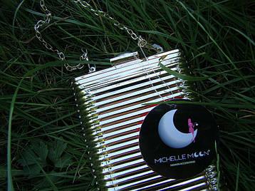 Вечерний клатч Michelle Moon L555 Серебристый, фото 2