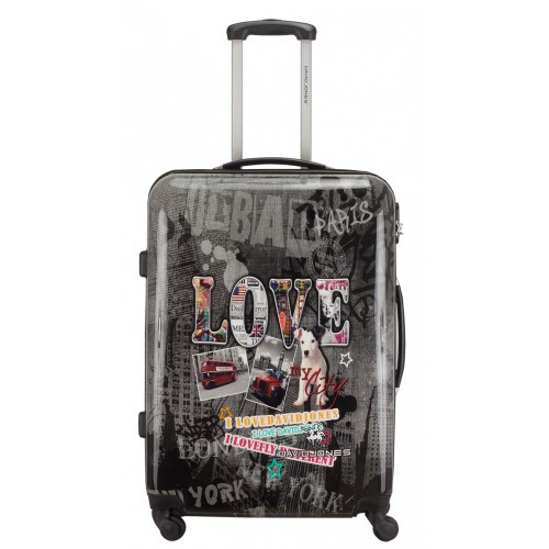 Большой чемодан на колесах David Jones 2017 Серый