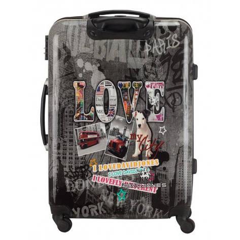 Большой чемодан на колесах David Jones 2017 Серый, фото 2