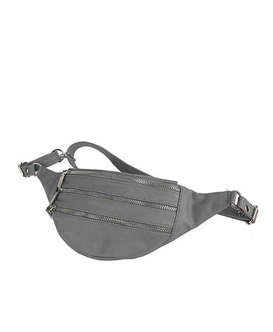 Женская кожаная сумка на пояс (бананка) Polscy SZ002 Черный, фото 2