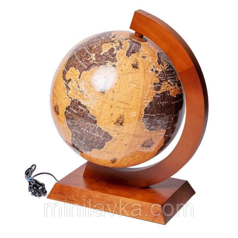 Глобус с подсветкой 320 мм. парусники BST 540220