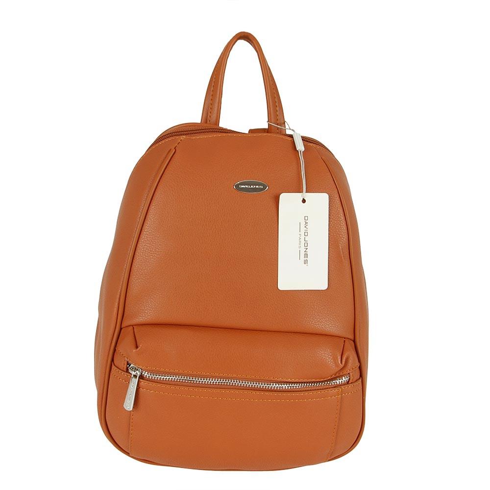 Женский городской рюкзак из экокожи David Jones CM5504 Коньяк