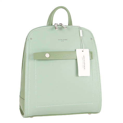 Женский городской рюкзак из экокожи David Jones 6247-2 Зеленый, фото 2