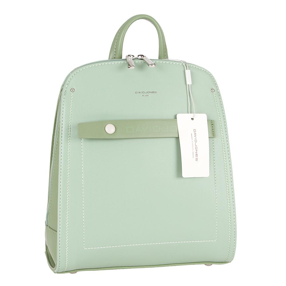 Женский городской рюкзак из экокожи David Jones 6247-2 Зеленый