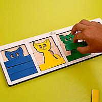Игрушка деревянная развивающая - «Кошки в лукошке». ЛЕПА