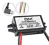 Авто адаптер конвертер №7 1х microUSB навес с 7/12v на 5V 15W преобразователь конвертор инвертор, фото 3