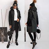 Пальто тренч женский. Цвета: черный, бордо. Размеры: 42-44, 46-48, 48-50, 52-54., фото 4