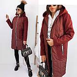 Пальто тренч женский. Цвета: черный, бордо. Размеры: 42-44, 46-48, 48-50, 52-54., фото 7