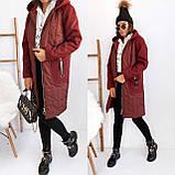 Пальто тренч женский. Цвета: черный, бордо. Размеры: 42-44, 46-48, 48-50, 52-54., фото 9