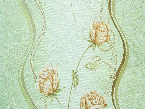 Обои, розы, цветы, крупный рисунок, розы, акриловые на бумаге, B76,4 Бутон 7000-04, роза, 0,53*10м