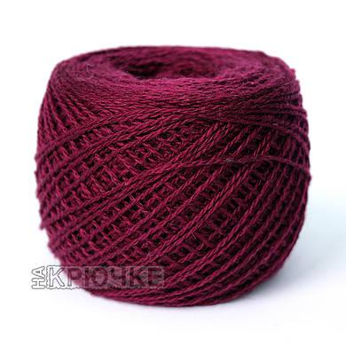 Зимняя пряжа для машинного вязания Ярослав, цвет 12 бордовый