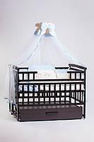 Кроватка детская с маятником венге