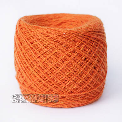 Зимняя пряжа для ручного вязания Ярослав, цвет 33 оранжевый