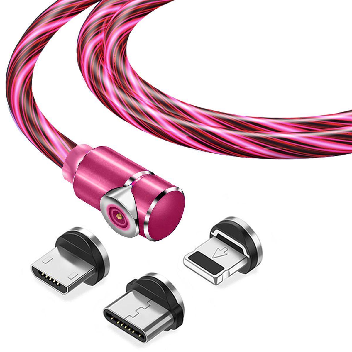 Магнитный кабель TOPK 3в1 (LZ) для зарядки (100 см) Red