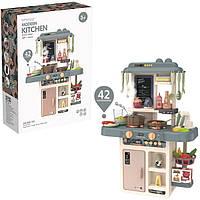 Детская игровая кухня Modern Kitchen 889-187 с водой, и духовкой, 42 предметов (63x45,5x22 см), фото 1