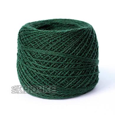 Зимняя пряжа для машинного вязания полушерсть Ярослав, цвет 211 темно-зеленый